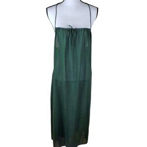 Tiare Hawaii Green Racerback Maxi Beach Dress